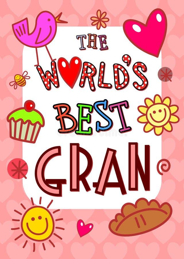 世界最佳的Gran卡片 库存例证