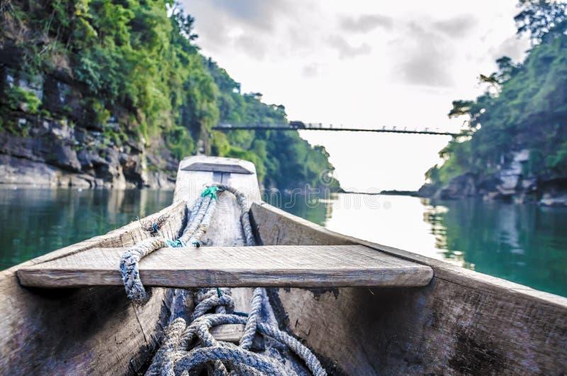 世界最干净的河 库存照片