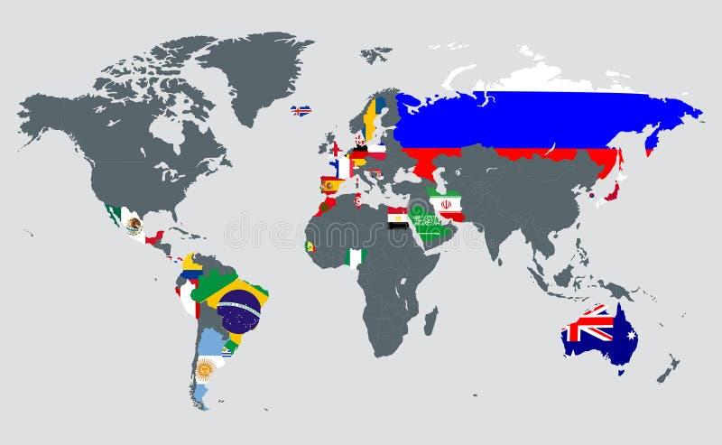 世界杯与会国 皇族释放例证