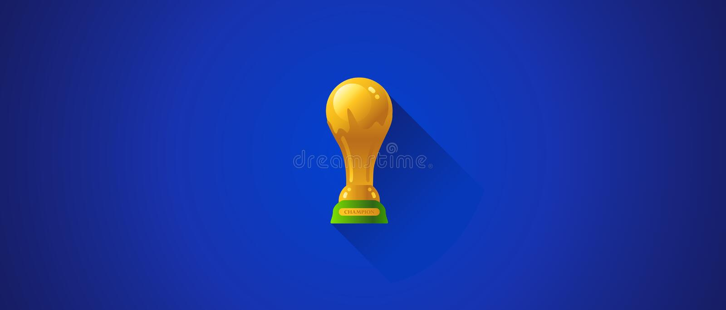世界杯足球战利品 向量例证