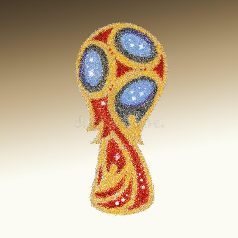 世界杯足球赛俄罗斯的一个抽象闪烁例证2018年 库存照片