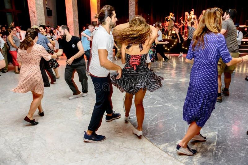 `世界果酱`和`摇摆舞音乐奖`节日2017年在马德里,西班牙 免版税库存图片