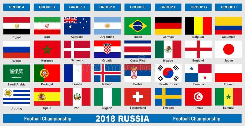 世界橄榄球冠军2018旗子 皇族释放例证