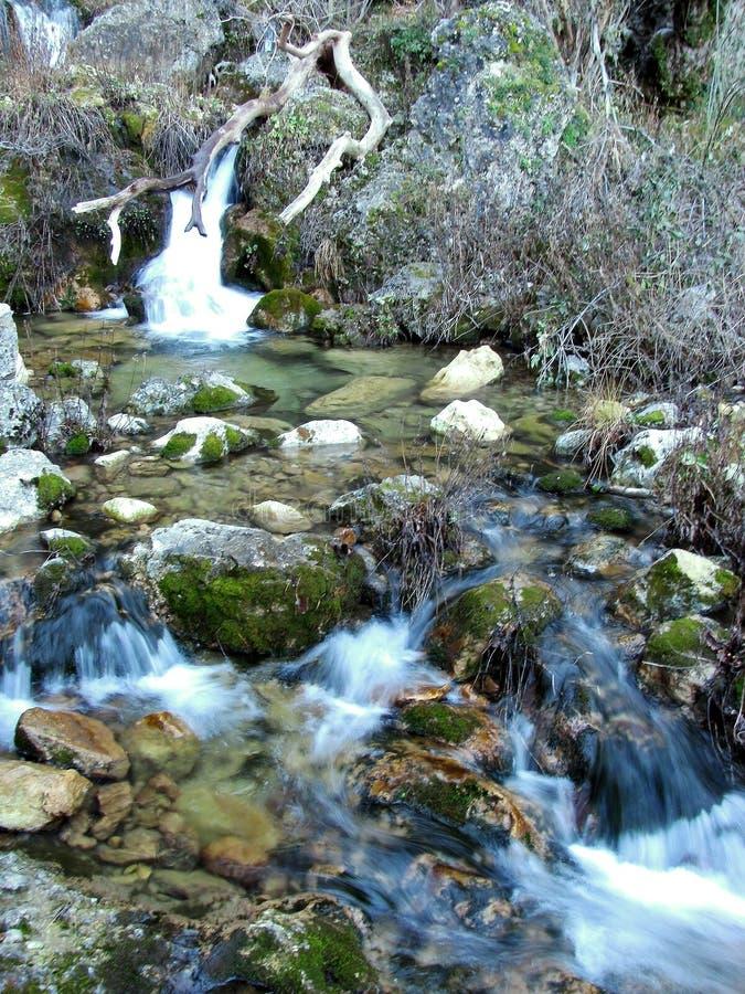 世界河的喷气机在山脉de阿尔卡拉斯 免版税图库摄影