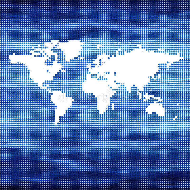 世界海洋传染媒介地图概念 库存例证