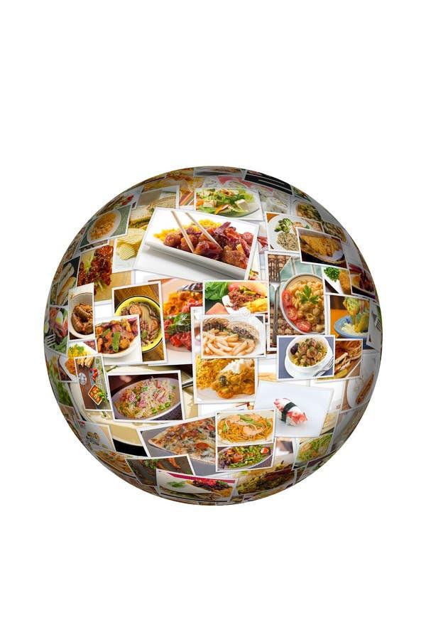 世界烹调拼贴画地球 皇族释放例证