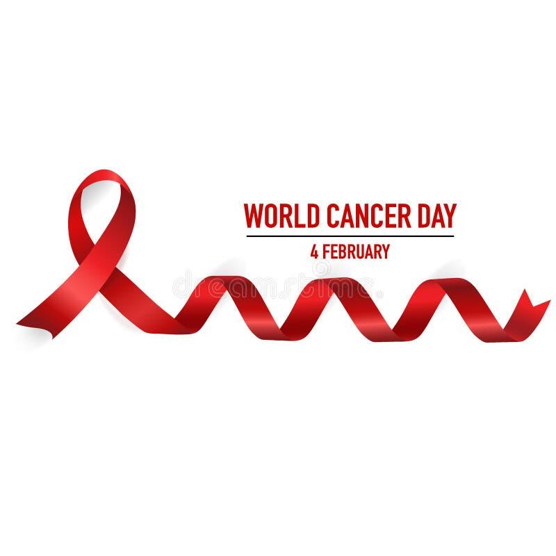 世界癌症天 2月4日 世界癌症天设计背景 向量例证