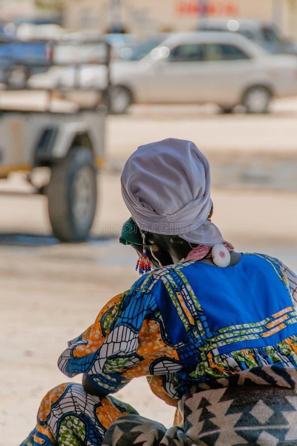 世界的人们-纳米比亚妇女 库存照片