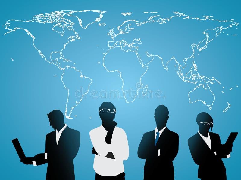 世界的商人 向量例证