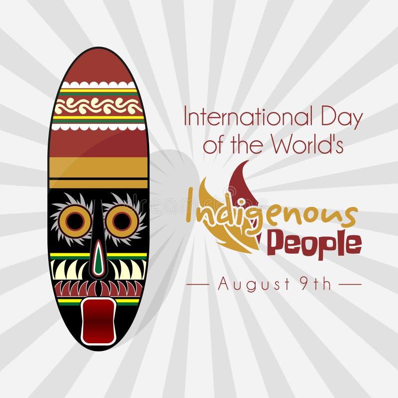 世界的土著人民的国际天 向量例证