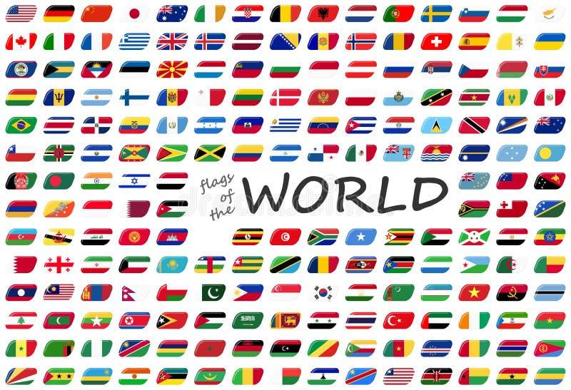 世界的所有国旗 库存例证