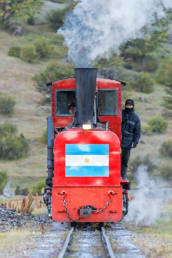 世界的末端的火车 库存照片