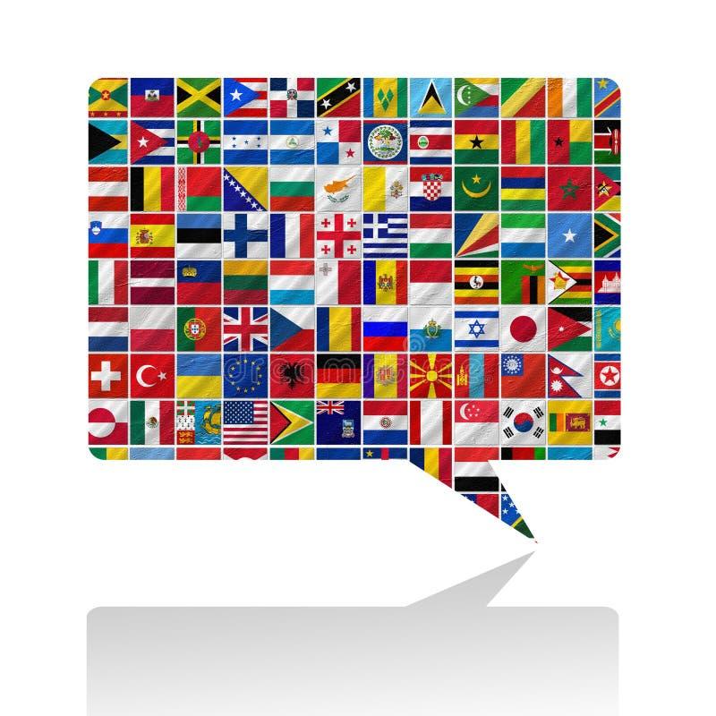 世界的标志与图标集的 皇族释放例证