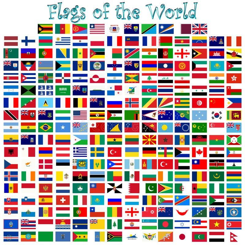 世界的标志 向量例证
