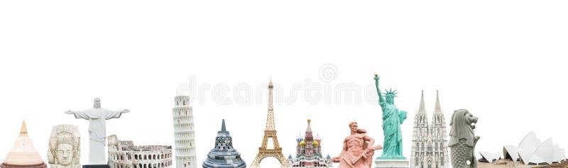 世界的著名纪念碑 库存图片