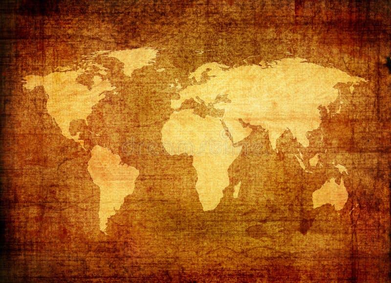 世界的Grunge映射 皇族释放例证