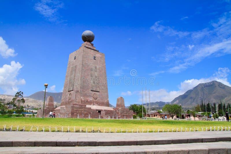 世界的Mitad del mundo或中心,厄瓜多尔。 库存照片