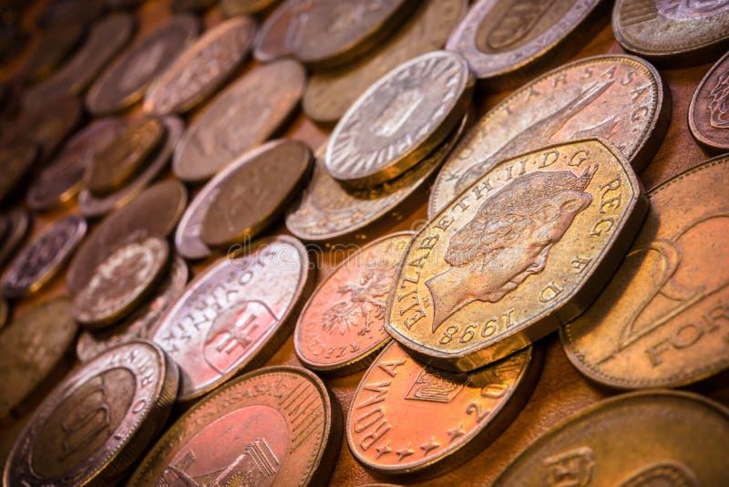 世界硬币收集 免版税库存图片