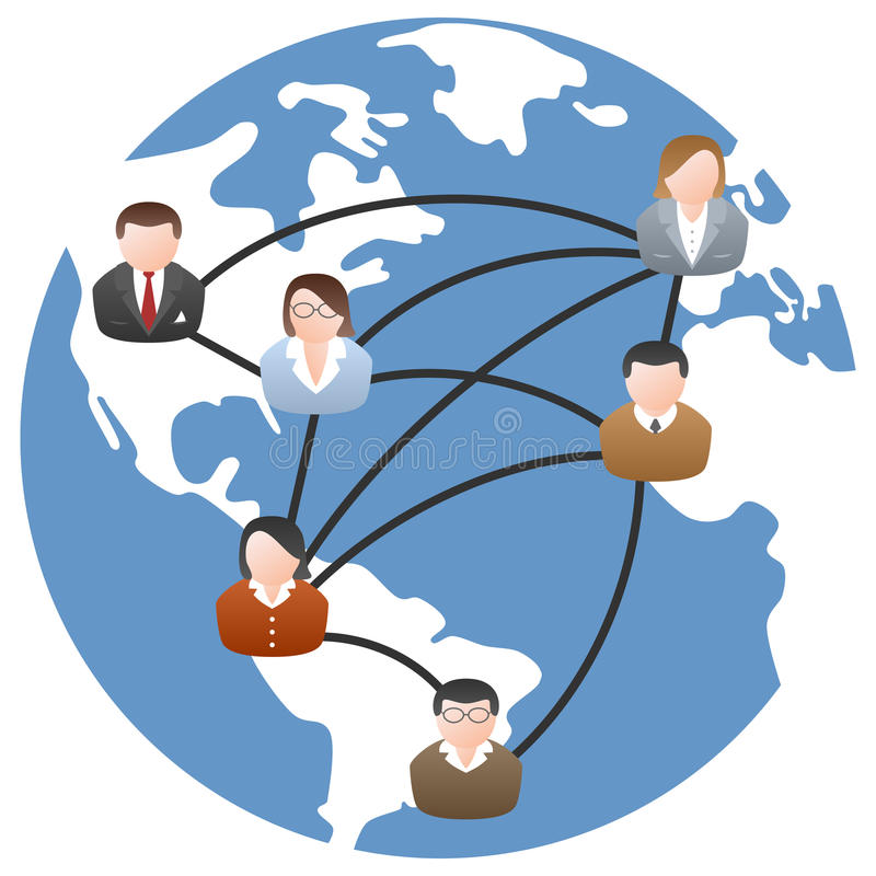 世界通讯网络 皇族释放例证