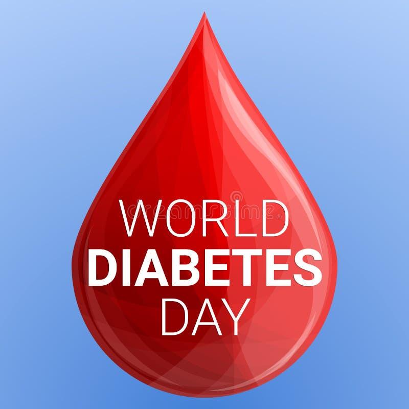 世界糖尿病天概念背景,动画片样式 皇族释放例证