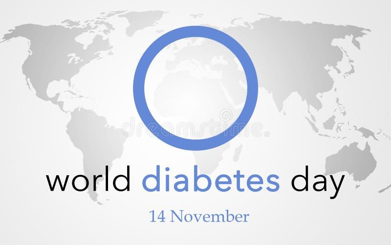 世界糖尿病天 库存例证