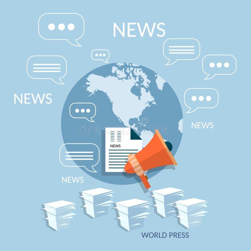 世界网上云彩文献概念全球性文书工作 向量例证