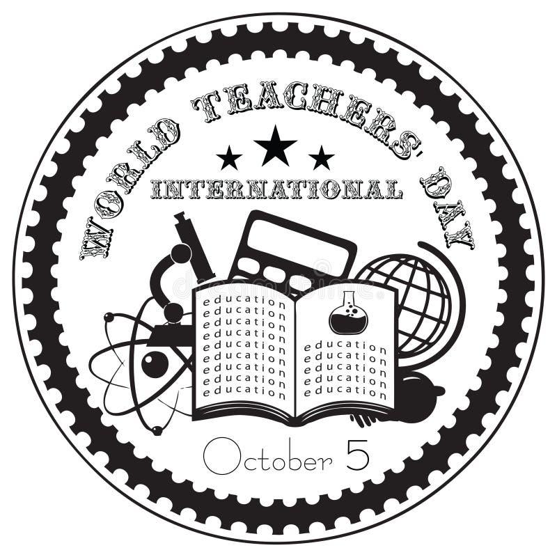 世界老师天国际性组织 库存例证