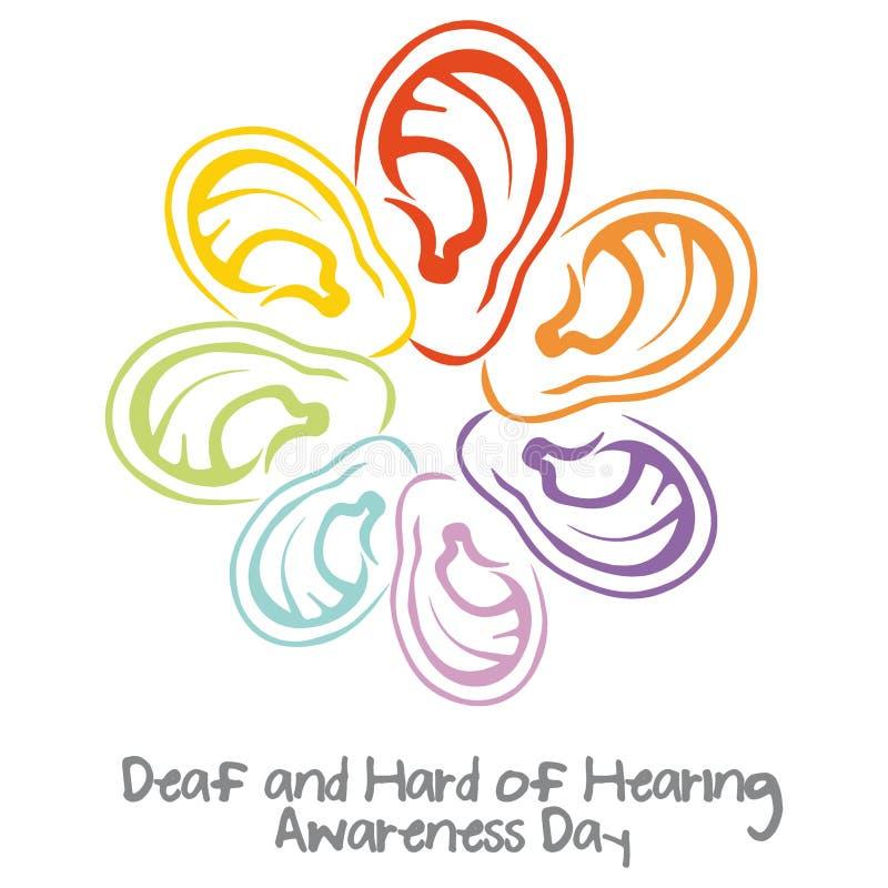 世界聋天 向量例证