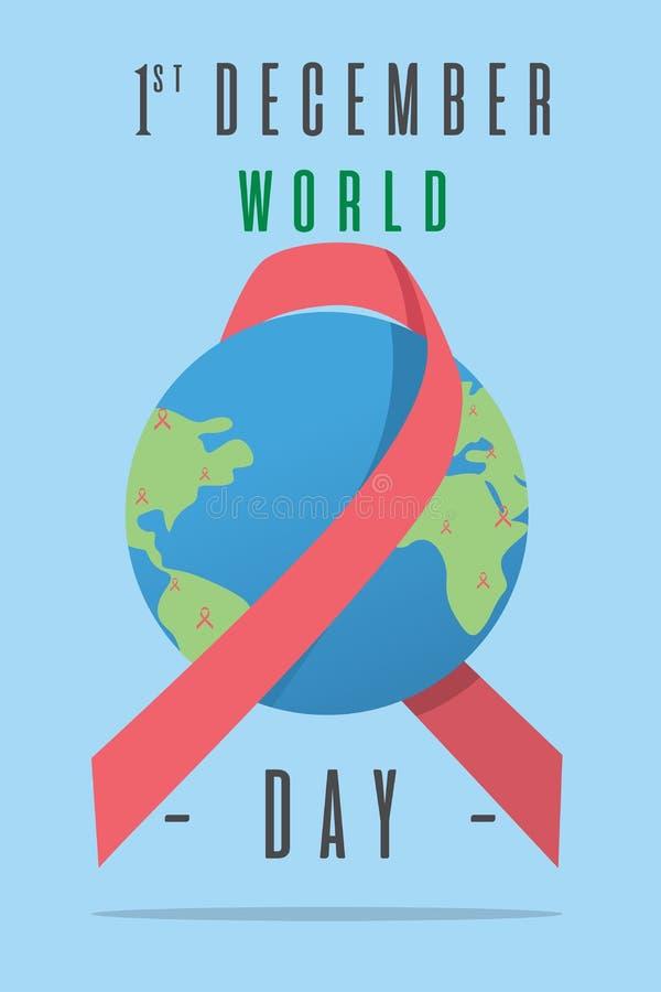 世界艾滋病日海报 向量例证