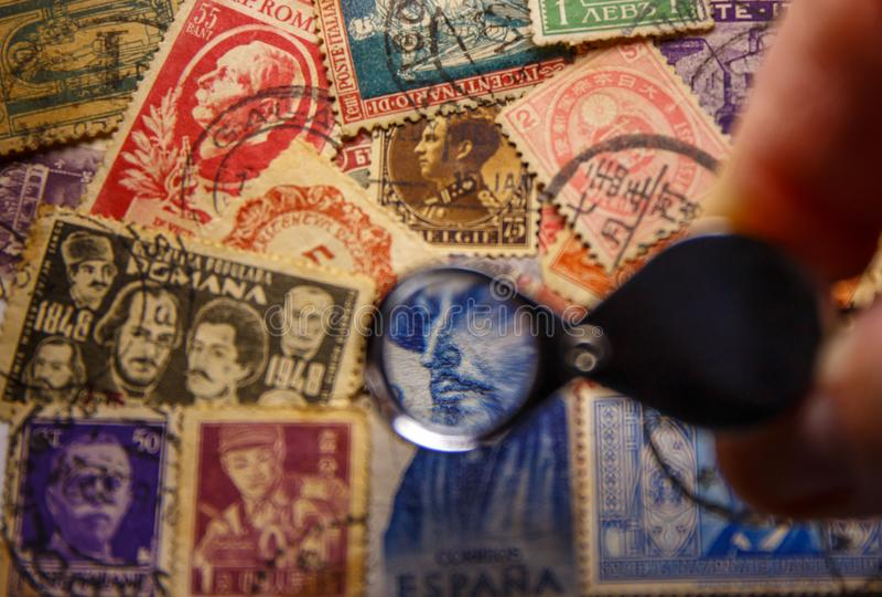 世界葡萄酒邮票1850-1950,美好的GRAFICS 免版税图库摄影