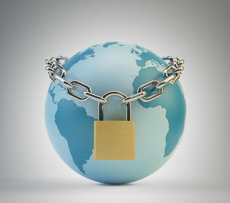 世界证券概念 向量例证
