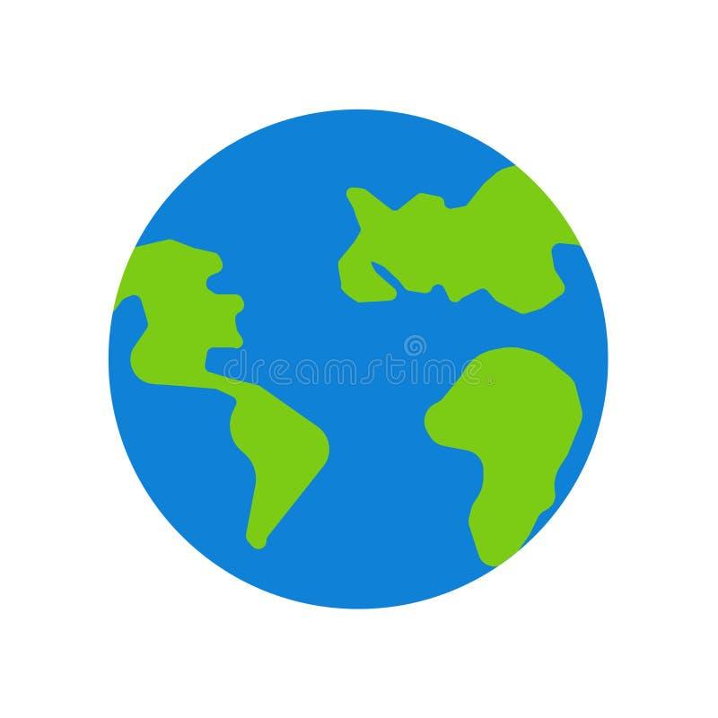 世界象在白色背景和标志隔绝的传染媒介标志 向量例证