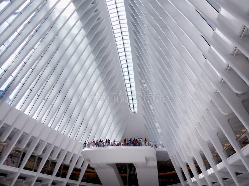 世界贸易中心内部 图库摄影