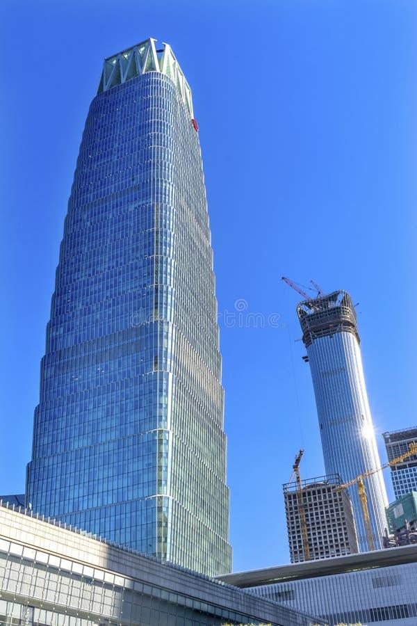 世界贸易中心Z15塔摩天大楼Guamao区贝吉 库存图片