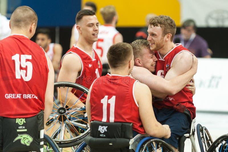 世界轮椅篮球冠军奖牌仪式 免版税库存图片