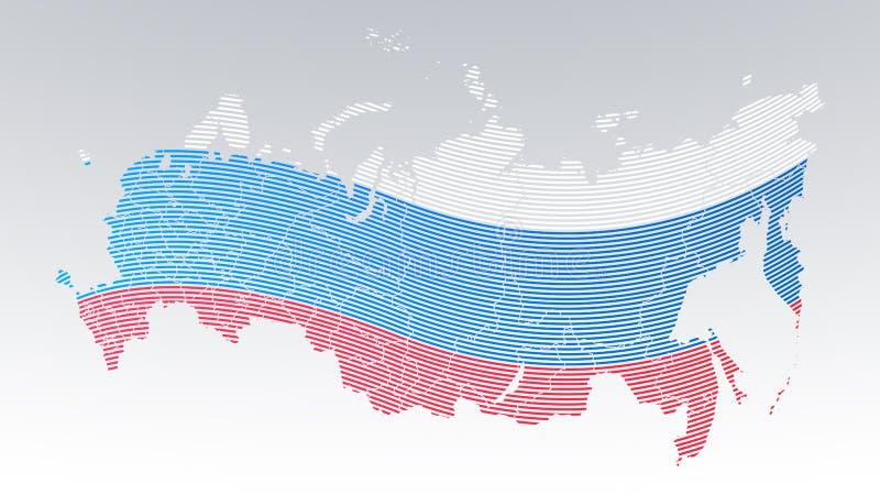 世界通信-俄罗斯-国旗-在白色背景加点的指纹 皇族释放例证