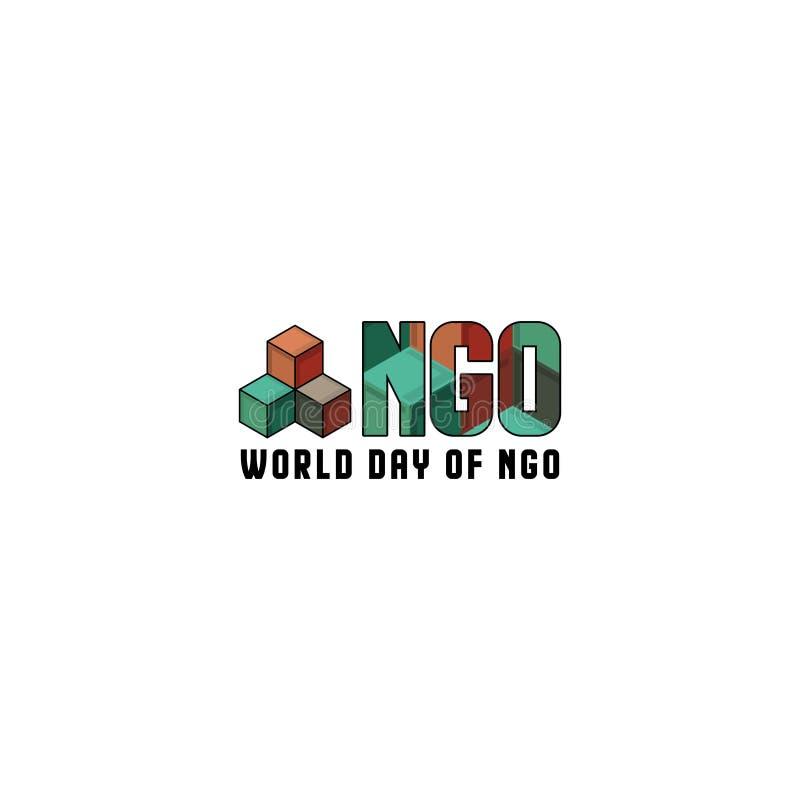 世界非政府组织日 向量例证
