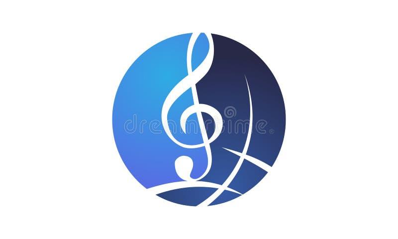 世界音乐商标设计模板 库存例证
