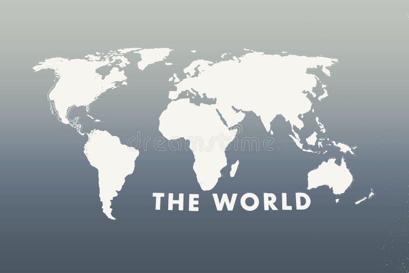 世界黑白背景纹理的地图 免版税图库摄影