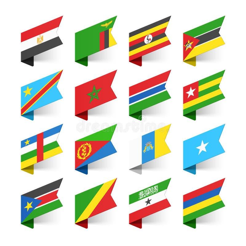 世界,非洲的旗子 向量例证