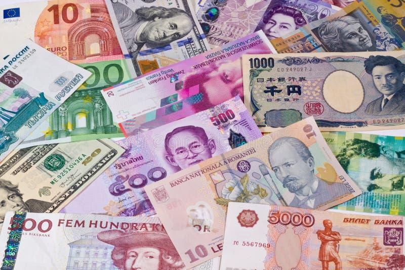 世界货币 库存图片