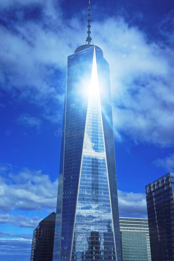 世界贸易中心一号大楼摩天大楼大厦 免版税库存照片