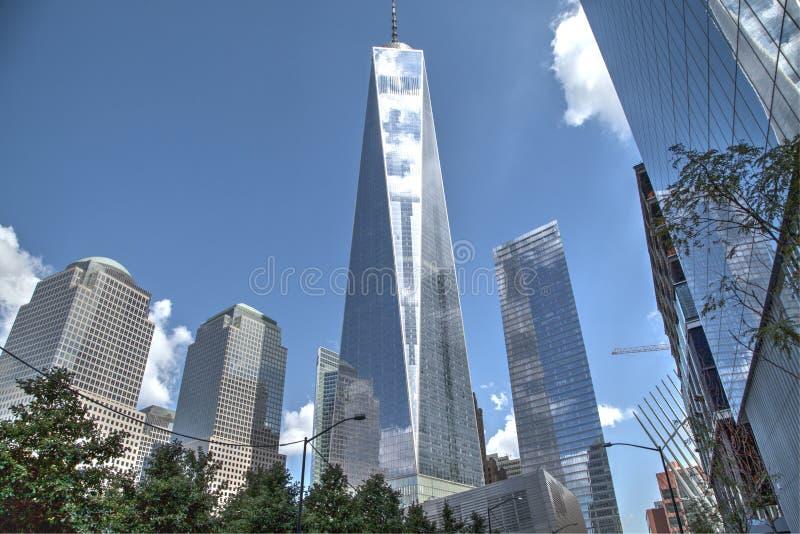 世界贸易中心一号大楼摩天大楼 库存图片