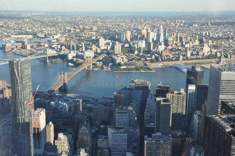 从世界贸易中心一号大楼的看法在纽约 库存图片
