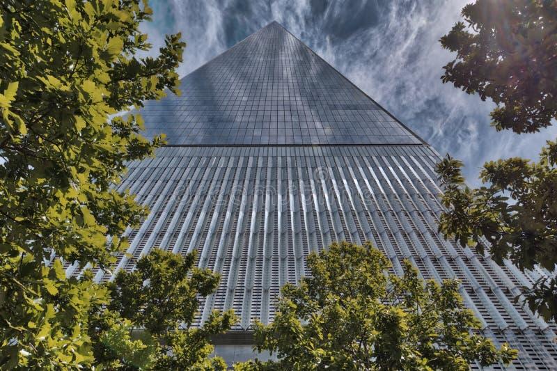 世界贸易中心一号大楼,更低的曼哈顿 库存照片