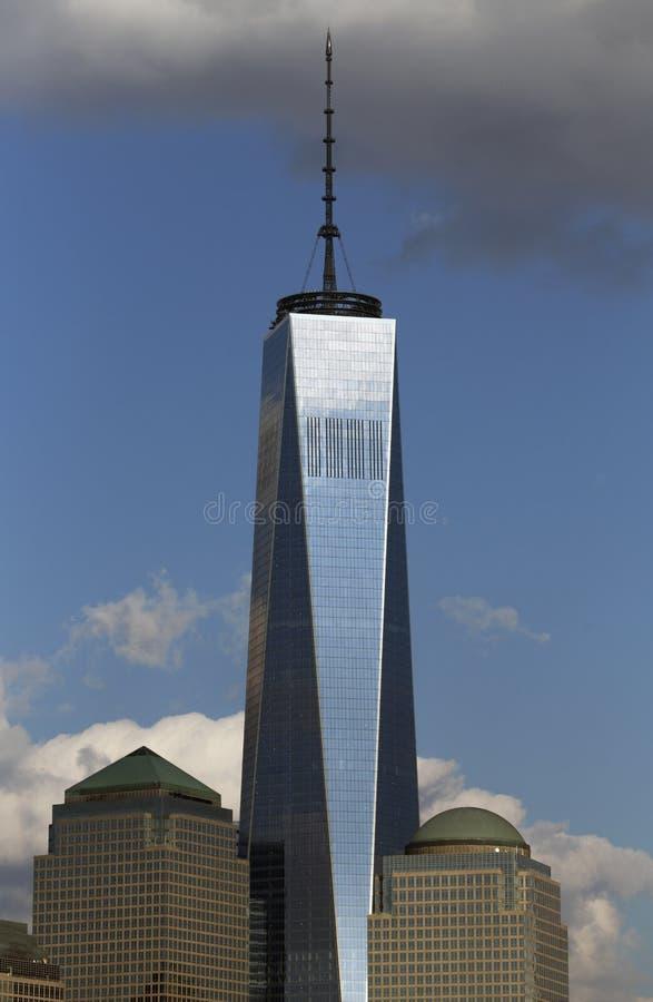 世界贸易中心一号大楼(1WTC),在纽约地平线以为特色的自由塔,纽约,纽约,美国 免版税库存图片