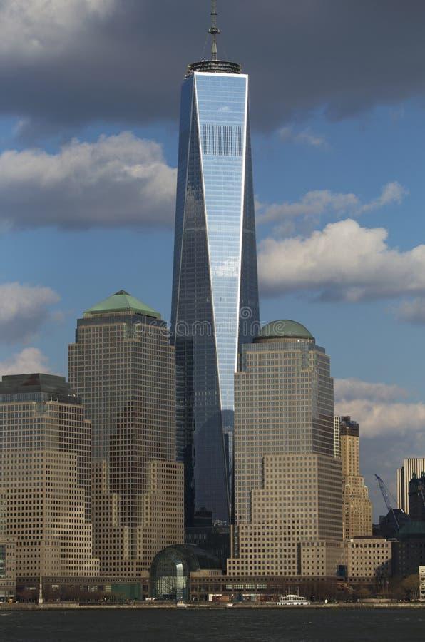 世界贸易中心一号大楼(1WTC),在纽约地平线以为特色的自由塔,纽约,纽约,美国 图库摄影