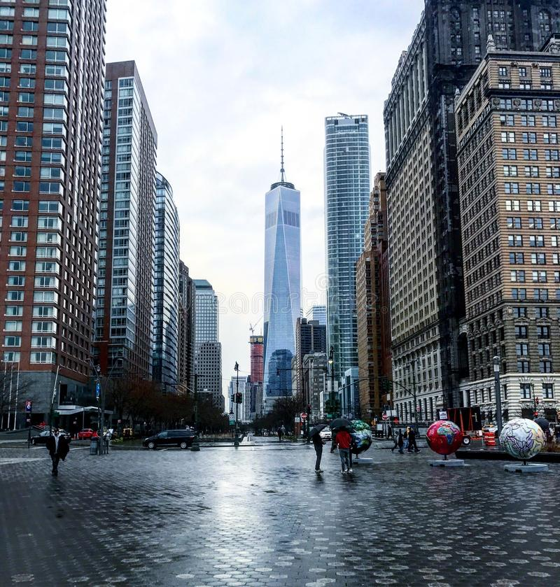 世界贸易中心,塔一 图库摄影
