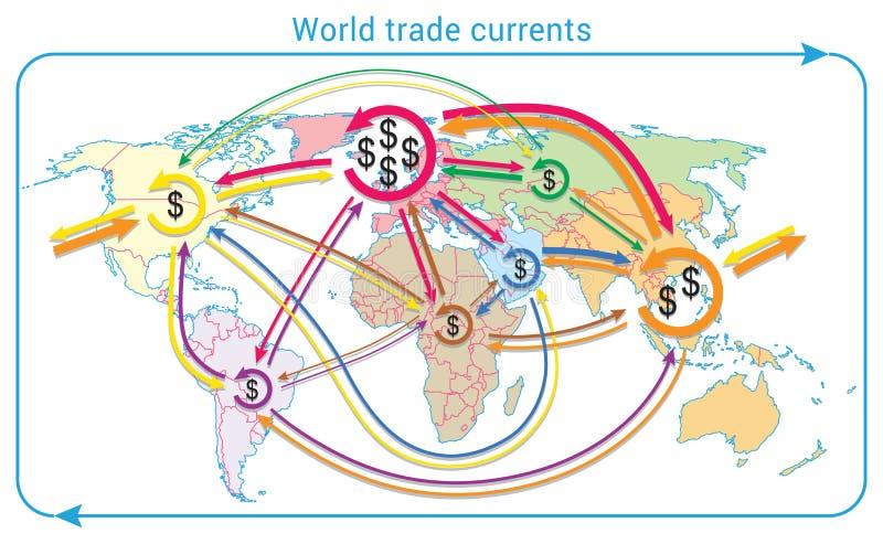 世界贸易潮流 皇族释放例证