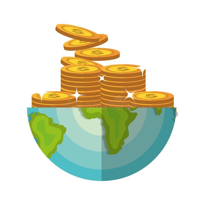 世界经济世界储款 库存例证